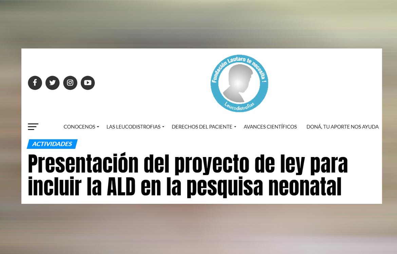 ALD Newborn Screening Pilot Program in Buenos Aires, Argentina